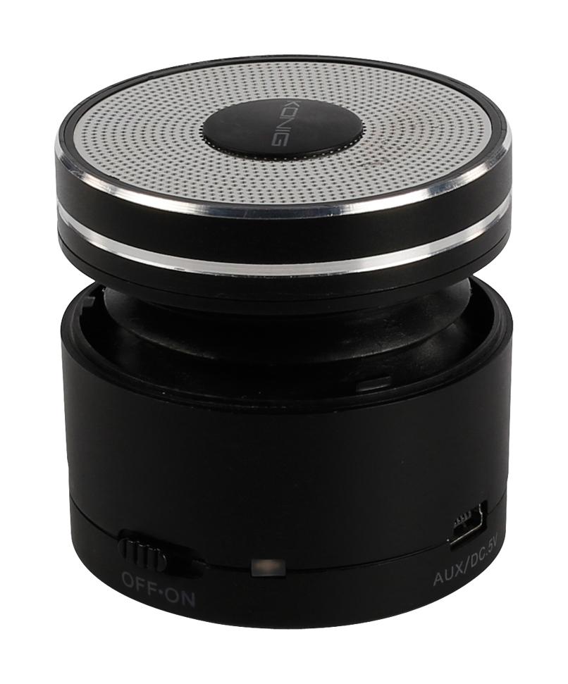Hordozható Bluetooth hangszóró, fekete, König CSBTSP110
