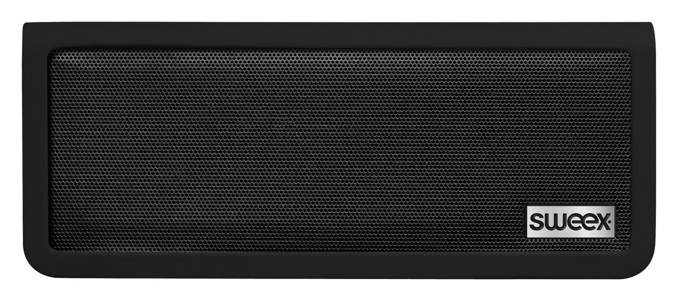 Hordozható sztereo Bluetooth hangszóró, fekete, Sweex Rock Star SP450