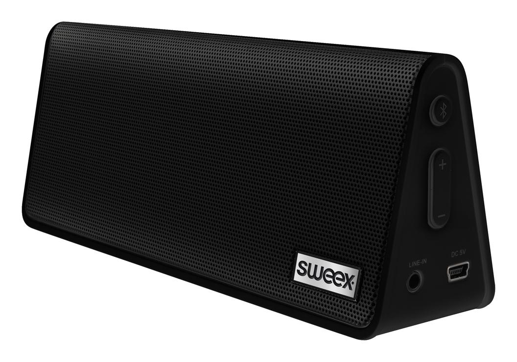 Hordozható sztereo Bluetooth hangszóró, kék, Sweex Rock Star SP451