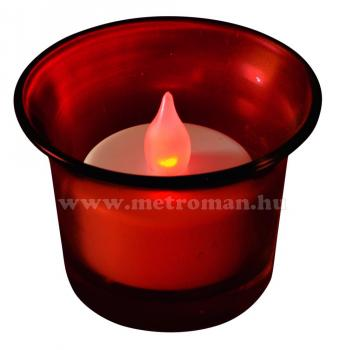 LED teamécses piros üvegcsészében CDG 1/RD