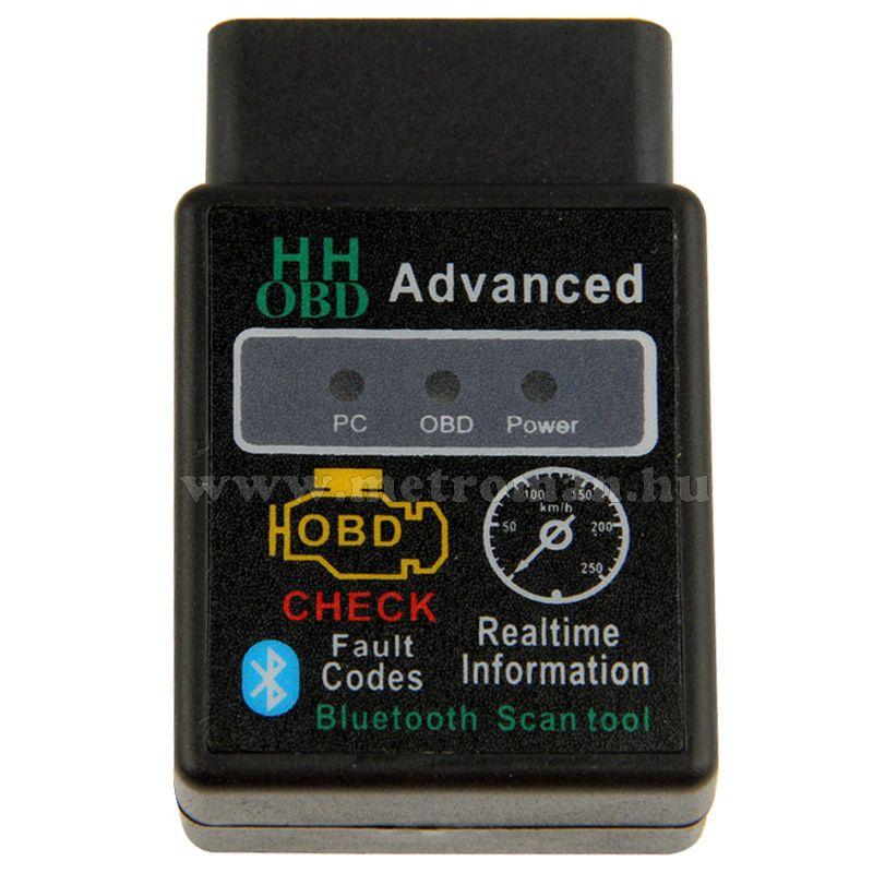 OBD2 bluetooth autó diagnosztikai műszer, hibakód olvasó/törlő Mlogic  ELM327 BT HH