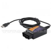 OBD2 USB autó diagnosztikai műszer, hibakód olvasó/törlő Mlogic  ELM327 USB