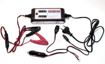 Intelligens automata akkumulátor töltő, csepptöltő, 12 V/4A Carstel 01.80.048