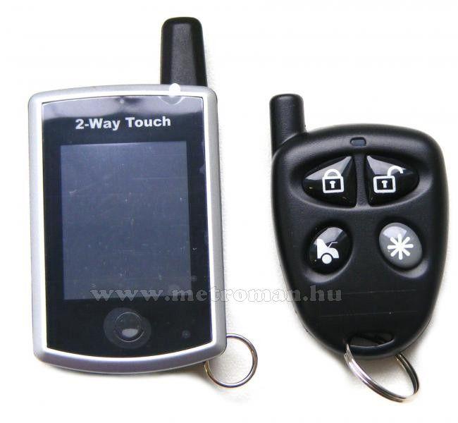 Patrol S1 LCD érintőképernyős személyhívós, távindításos autóriasztó