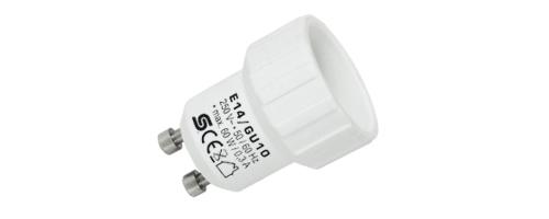 E14/GU10  Foglalat átalakító adapter