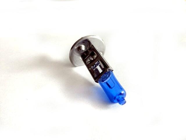 Emelt fényű, halogén izzó, H1 55 Watt, 5500 K