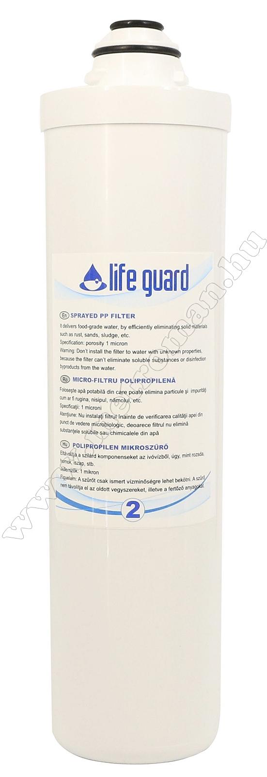 PP polipropilén szűrő, 1 mikronos Life Guard ivóvíz utótisztítóhoz 77900-2