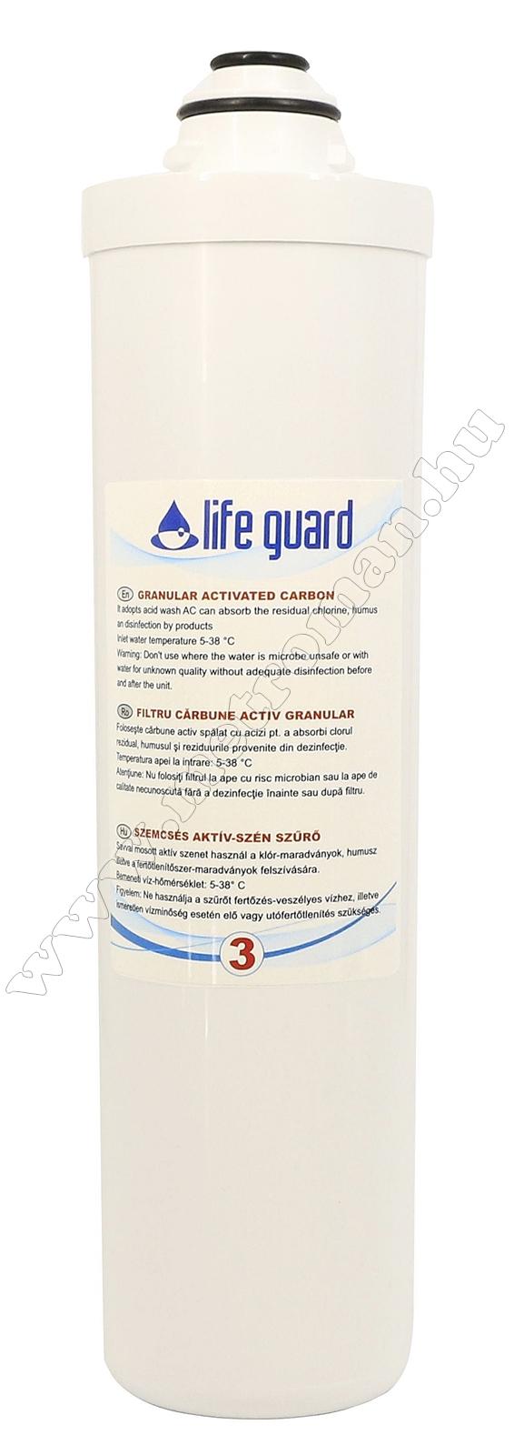 Szemcsés aktív szénszűrő Life Guard ivóvíz utótisztítóhoz 77900-3