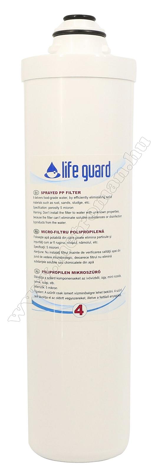 PP polipropilén szűrő, 5 mikronos Life Guard ivóvíz utótisztítóhoz 77900-4
