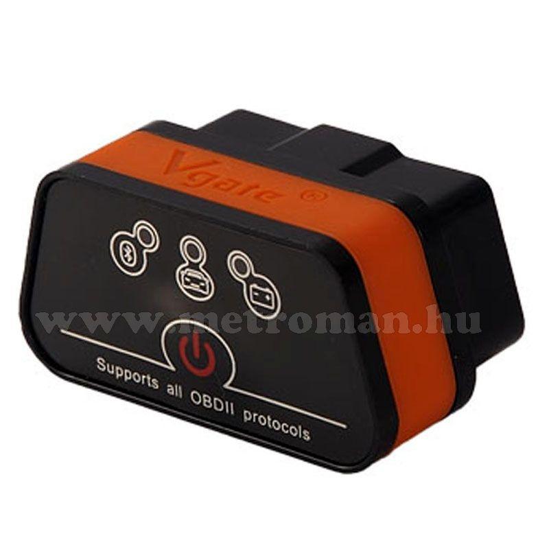 OBD2 bluetooth autó diagnosztikai műszer, hibakód olvasó/törlő  Vgate iCar
