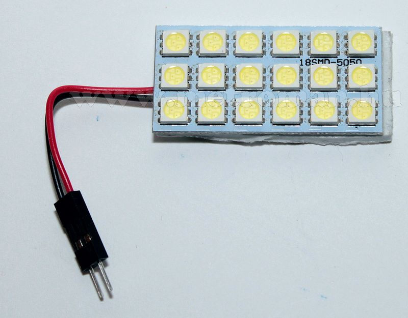 LED panel, nagy fényerejű 18 db 5050-es SMD LED-del, 18SMD5050LED