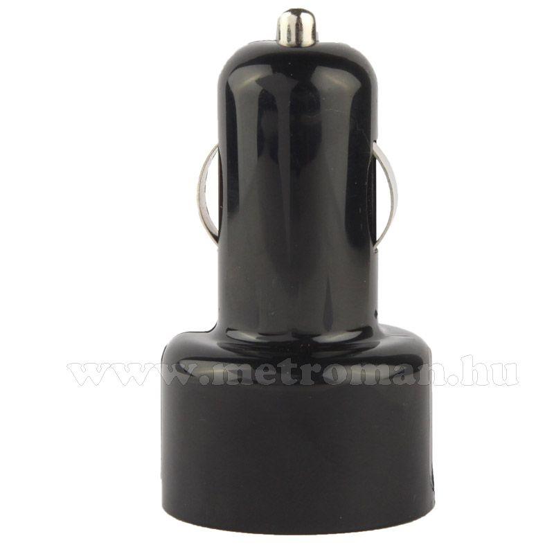 Autós, szivargyújtós USB töltő, feszültségmérő műszer, SCS2588