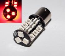 Autós LED izzó BA15S, 27SMD LED-es, Piros, MM-BA15-27SMD5050P