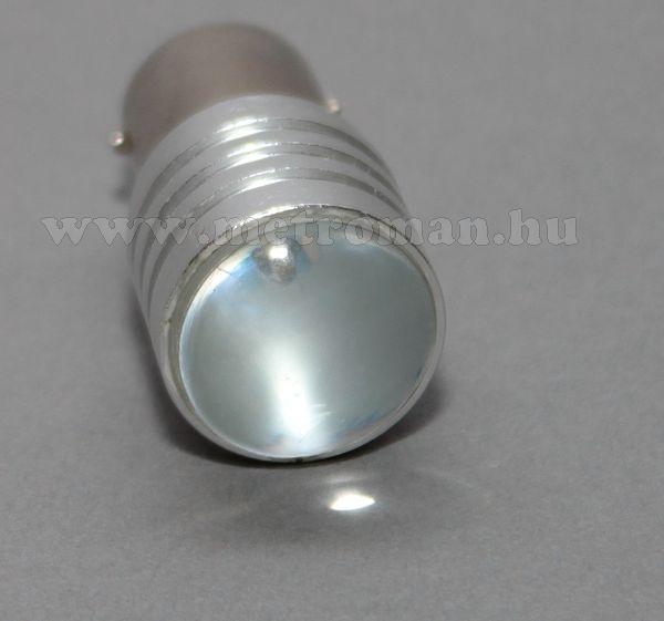 Autós LED izzó BA15S, Projector CREE LED-es, fehér, MM-BA15-7WCREELED