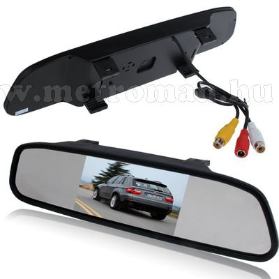 "Autós 4,3"" LCD tükör monitor, Mlogic MM-0109"