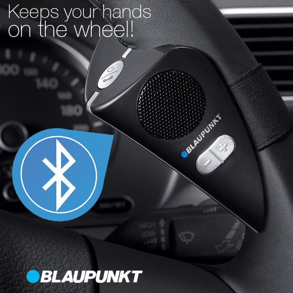 Bluetooth autós kihangosító, Kormánykerékre szerelhető, Blaupunkt BT-414