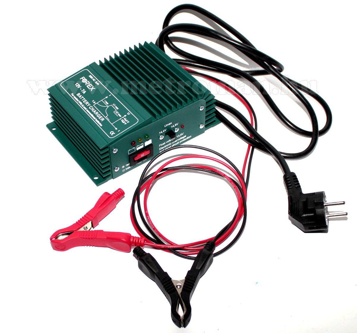 Beépíthető intelligens automata autó - hajó akkumulátor töltő, csepptöltő Forex T127
