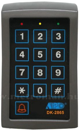 Kódzáras ajtó, kapu nyitó vezérlő, DK-2865K