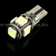 Autós Can-Bus LED izzó, 5 db szuperfényes  SMD LED-del, T105SMD5050LEDCAN