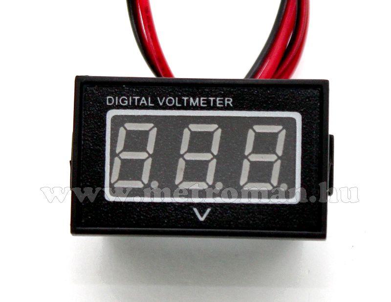 Digitális  feszültségmérő, vízálló, 3-30 Volt DC, Mlogic DC277G