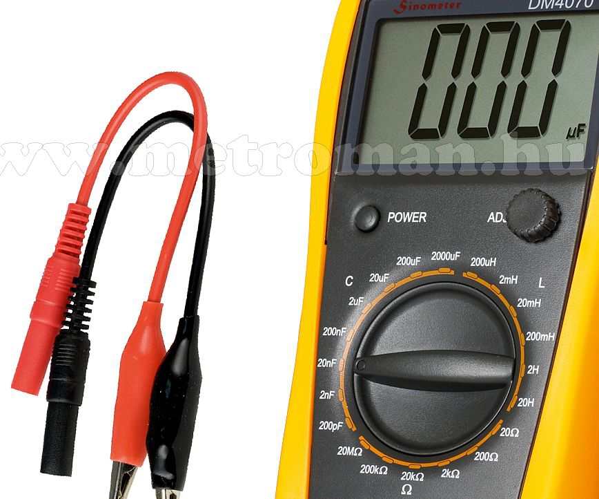 Professzionális digitális, Kapacitás, Induktivitás és ellenállás mérő műszer DM 4070