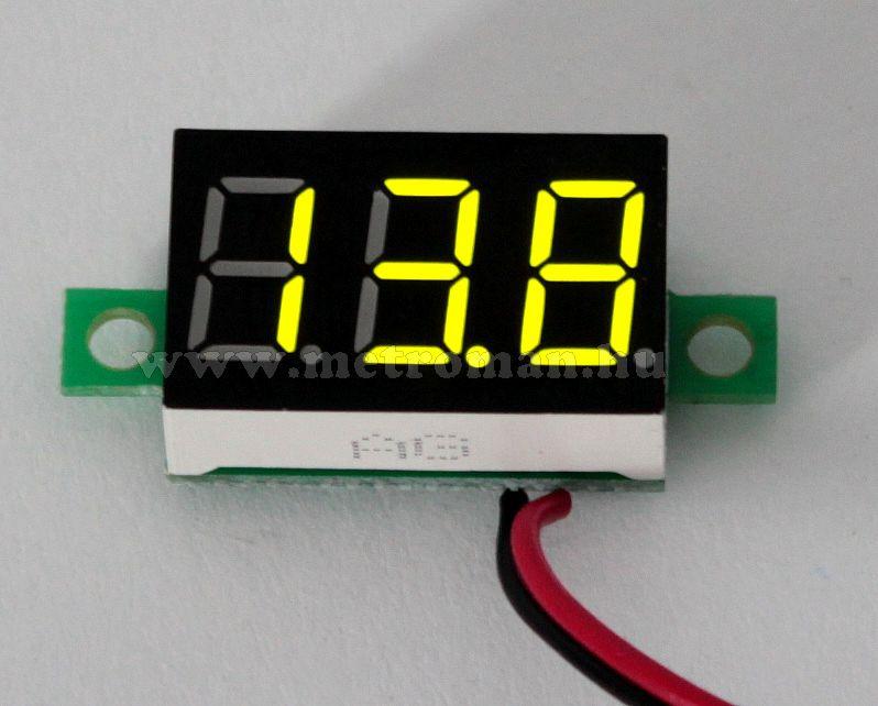 Digitális  feszültségmérő, beéépíthető, Mlogic DT0186G Zöld