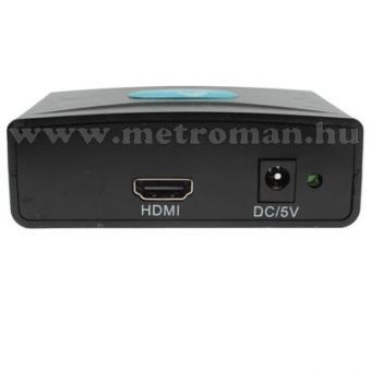 PC VGA-HDMI Konverter, számítógép - TV összekötésére, Full HD, Mlogic PC-0403