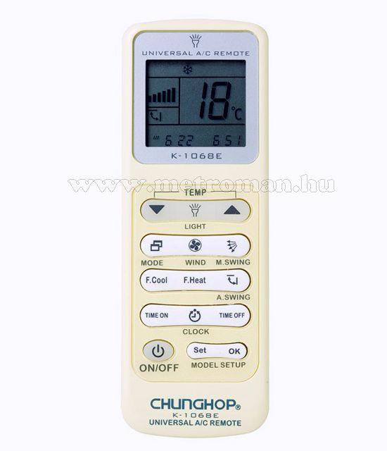 Univerzális klíma, légkondi távirányító, K-1068E