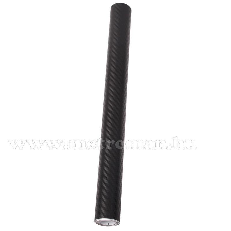Autó fólia, 3D fekete Karbon fólia, 127 X 50 Cm