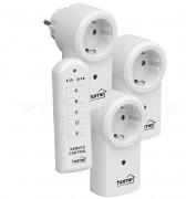 Távirányítós hálózati aljzat, konnektor szett, 3 db-os, Home TH 113