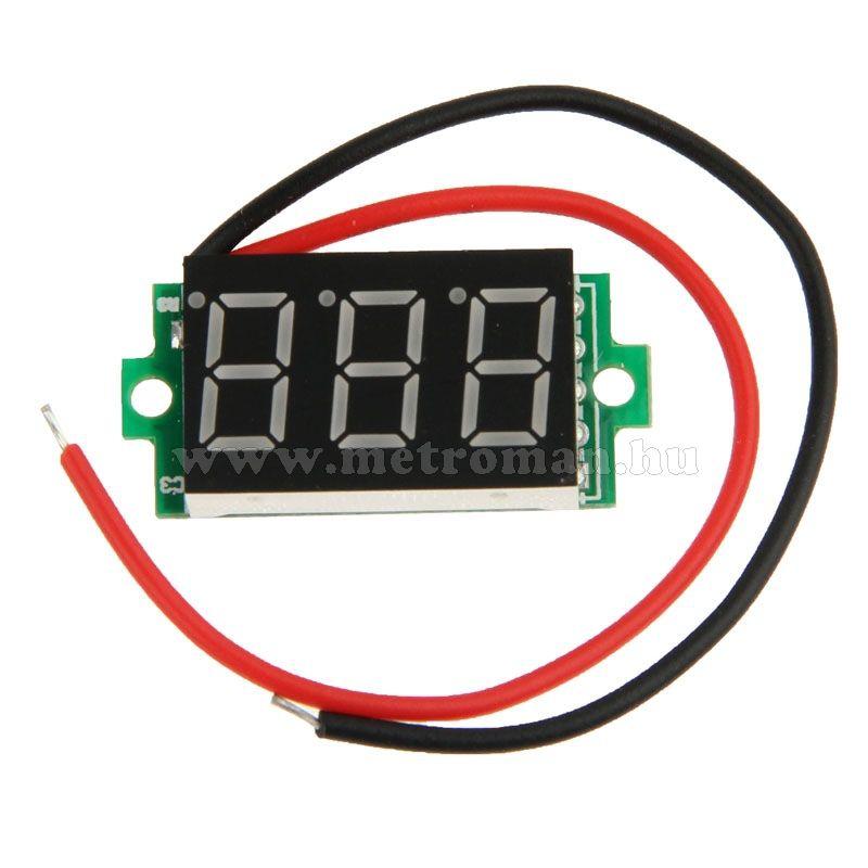 Digitális  feszültségmérő, beéépíthető, Mlogic DT0186 Piros