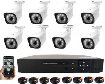 8 kamerás AHD DVR biztonsági megfigyelő kamera rendszer MM1220-FHD