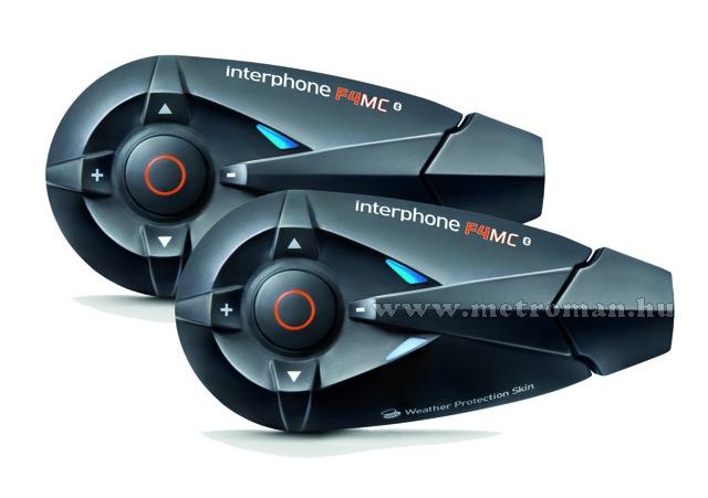 Motoros Bluetooth bukósisak kihangosító és headszett, InterPhone F4MC Twin Pack