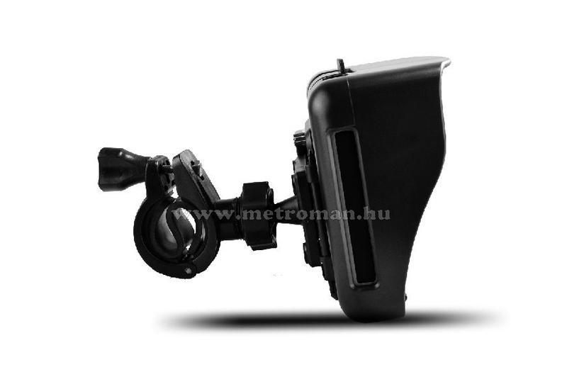 CNS Globe Moto GPS Fekete/Szürke navigációs készülék, Térkép nélkül