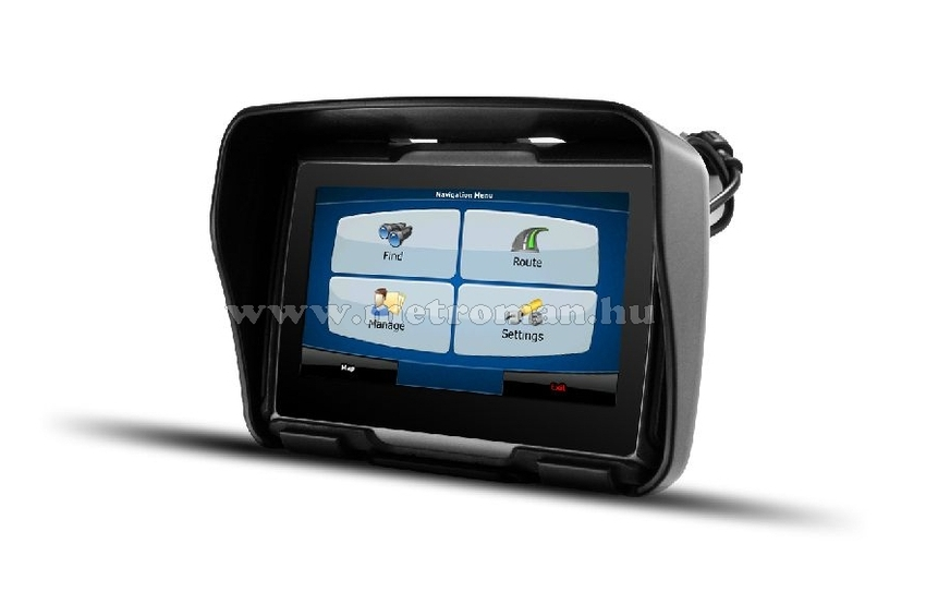 CNS Globe Moto GPS Fekete/Szürke + CNS MAP8 EU szoftver