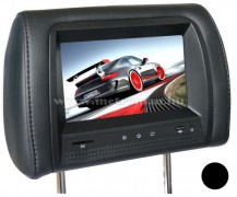 """Fejtámlába épített 7""""-os TFT-LCD monitor, JVJ HR7817MP5 Fekete"""