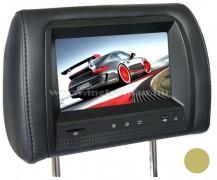 """Fejtámlába épített 7""""-os TFT-LCD monitor, JVJ HR7817MP5 Bézs"""