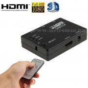 HDMI távirányítós bemenet kiválasztó, HDMI elosztó adapter, PC-2361