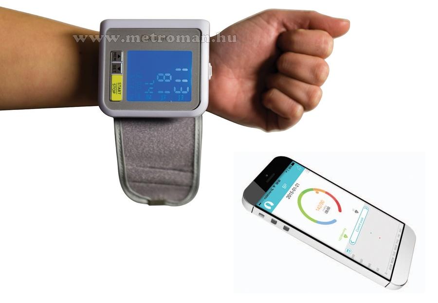 Bluetooth-os csuklós vérnyomásmérő König KN-BLDPRESS30B..