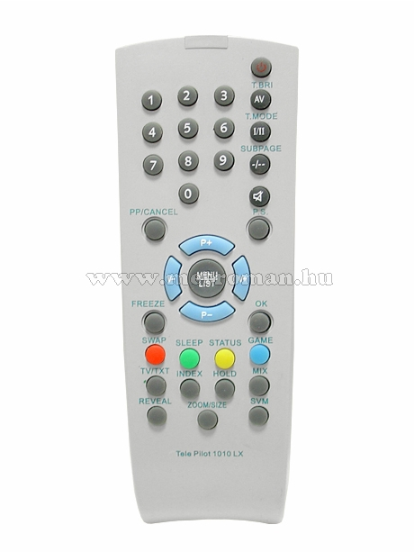 Utángyártott TV távirányító, Grundig TP 1010