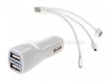 Autós USB adapter, többfunkciós kábellel AE-WF134