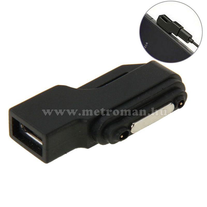 Után gyártott mágneses töltő adapter Sony Z1, Z2, Z3 mobiltelefonokhoz