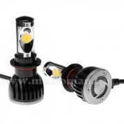 Autós H7 LED izzó szett, H7-5000K