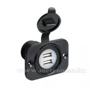 Beépíthető, vízálló USB töltő aljzat, 39005