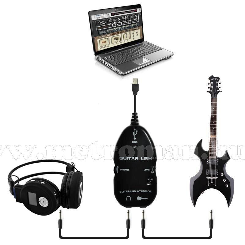 Gitár USB interfész, USB PC csatlakozó, Mlogic  MM-0127
