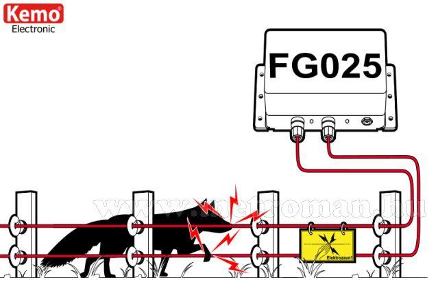 Villanypásztor - nagyfeszültség generátor, Kemo FG025