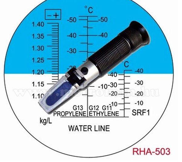 Refraktométer, Autós fagyálló és akkusav mérő RHA-503