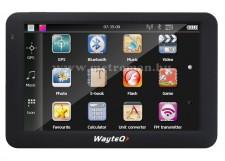 Wayteq X985BT GPS Navigáció, Bluetooth, 8 Gb memóriával