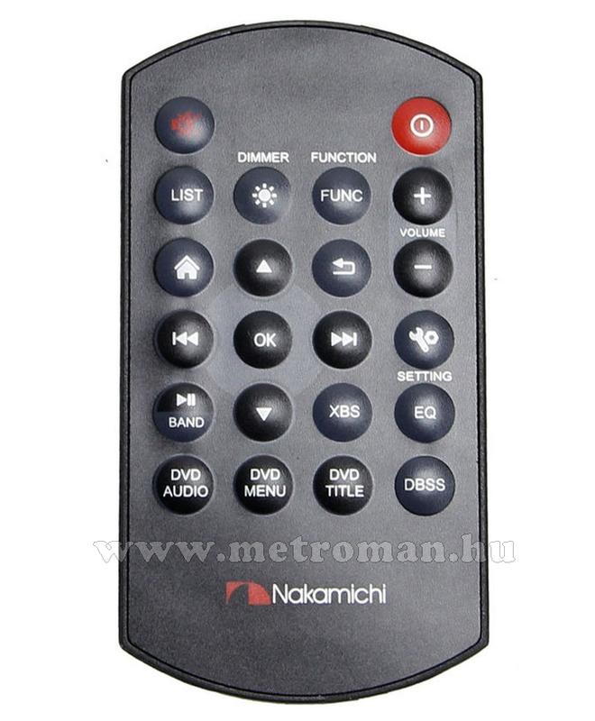 "DVD/USB/SD MP3 Navigációs multimédia autórádió, 6,2"" LCD-vel, Nakamichi NA1610"