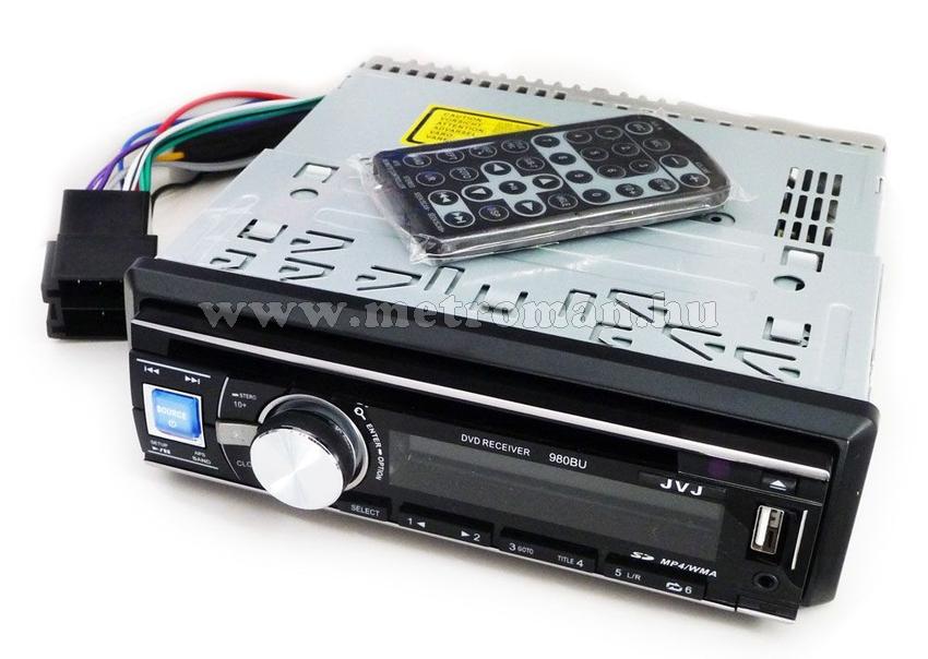 DVD/CD/USB/SD autórádió, JVJ DVD-980BU